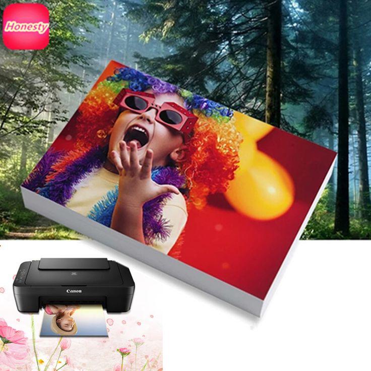 """A7, 3R/5 """", 4R/A6, 5R/7"""", A5, A4 Papel Fotográfico Papel Fotográfico para Impresoras De Inyección De Tinta de Impresora 4R Brillante material de Oficina de Papel de Impresión"""