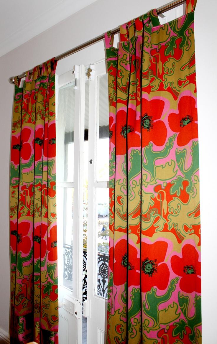 'Floppy Poppy' Curtains