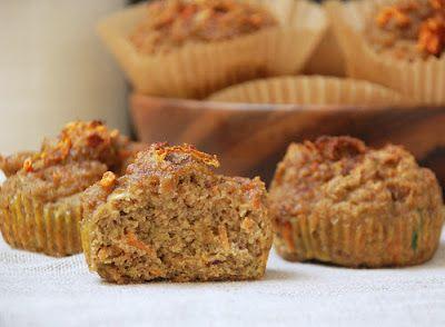 Deliciosos Muffins con harina de coco, zanahoria, calabaza y especias