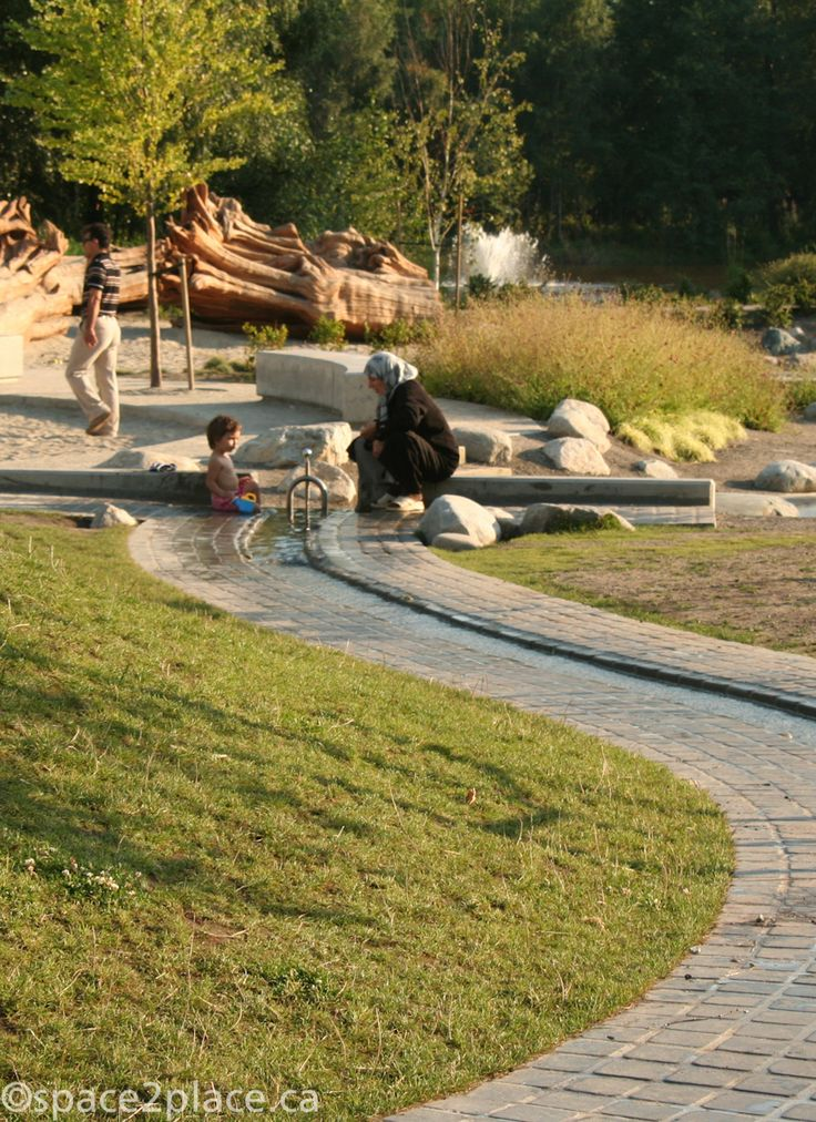 Water channel at Garden City Playground. Designed by space2place