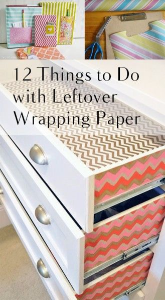Things to Do With Leftover Wrapping Paper, Wrapping Paper, Gift Wrap Ideas, Present Wrapping, How to Wrap Presents, Repurpose Projects, How to Recycle Wrapping Paper