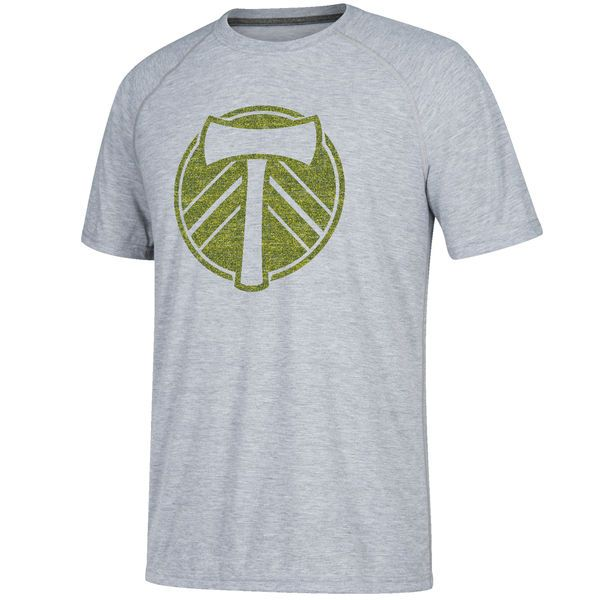 Men's Portland Timbers adidas Gray Fabrication Ultimate Performance T-Shirt
