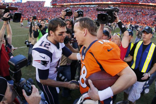 Patriots writer talked out of Tom Brady MVP vote … by Brady, who picked Peyton Manning.  Tom Brady is a class act.  Humble, honest, and respectful.