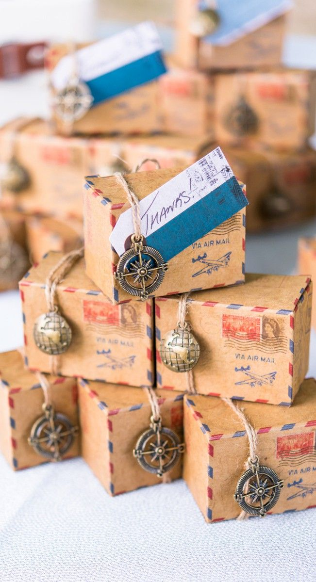 Travel themed favors