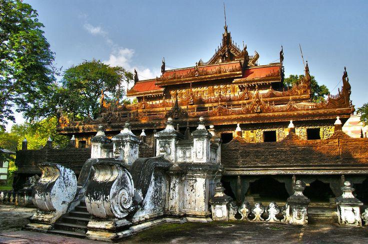 Shwenandaw  Monastery by CitizenFresh.deviantart.com on @DeviantArt