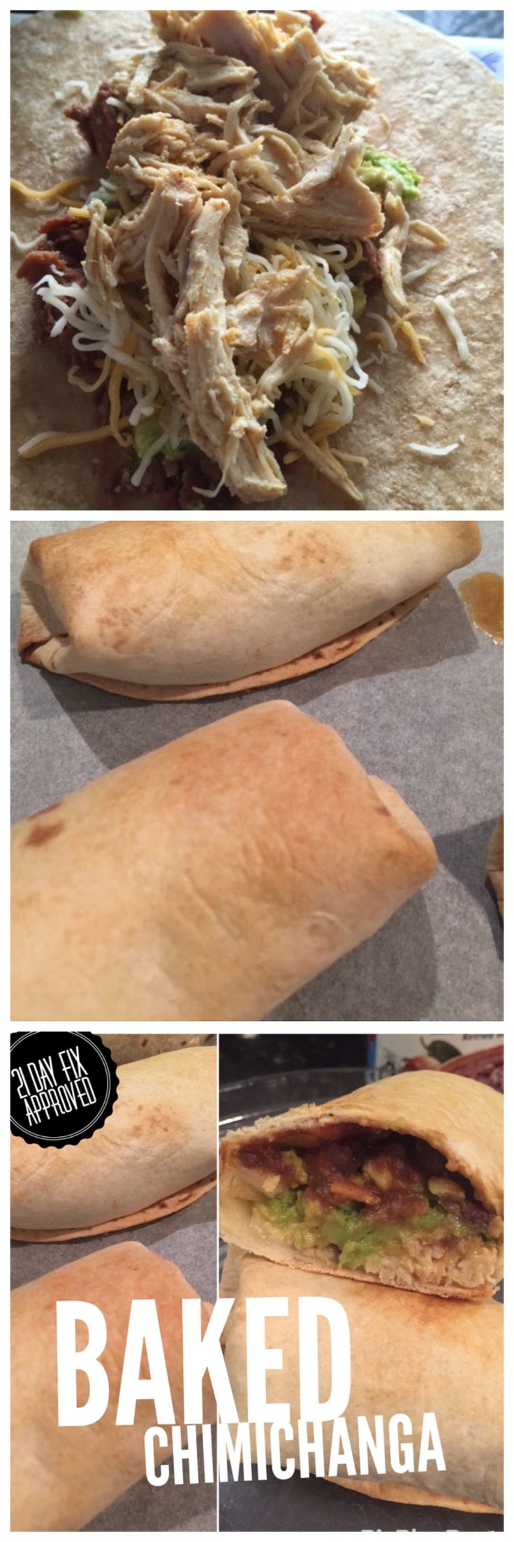 Baked Chimichangas. So delicious and no guilt! 21 Day Fix and Family Approved.