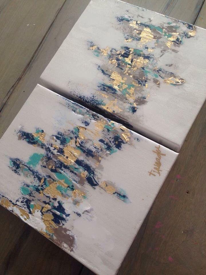 gold foil navy blue canvas