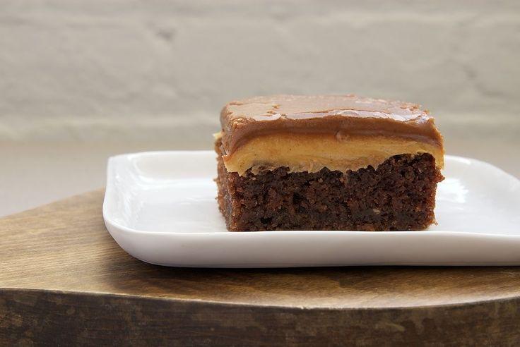 Peanut butter fudge cake!