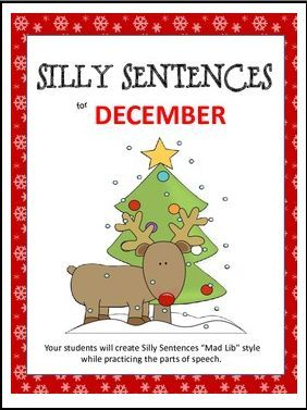 "FREE LANGUAGE ARTS LESSON – ""Silly Sentences – December"" - Go to The Best of Teacher Entrepreneurs for this and hundreds of free lessons. 2nd - 4th Grade   #FreeLesson   #LanguageArts   #Christmas   http://thebestofteacherentrepreneursmarketingcooperative.net/free-language-arts-lesson-silly-sentences-december/"