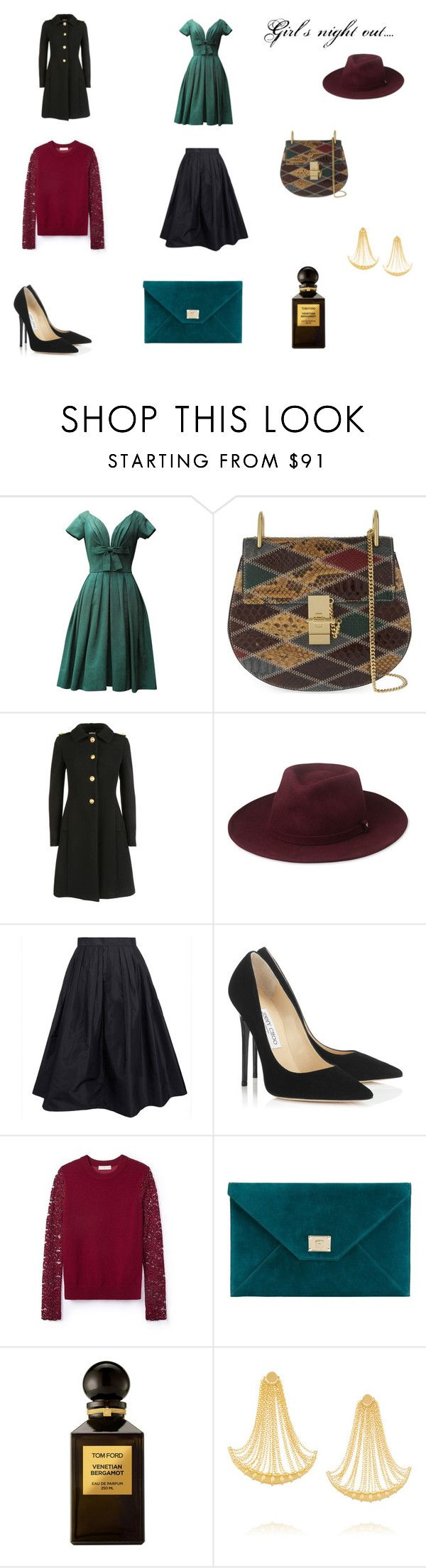 """""""Girls night out ...."""" by mousouza on Polyvore featuring Christian Dior, Chloé, Miu Miu, Whistles, Raoul, Jimmy Choo, Tory Burch, Tom Ford and Arme De L'Amour"""