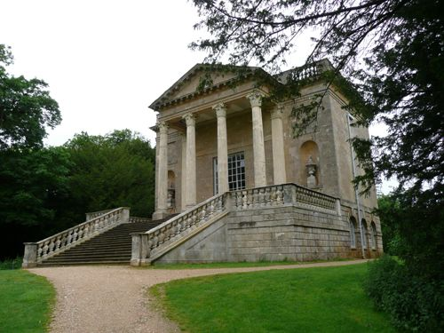 Georgian House Front Elevation : Stowe queen s temple front elevation stately homes