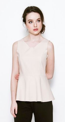 Cameron Sleeveless Blouse by kim. No matter how many neutral colours there are, the colour nude always seems to be reinventing itself. The nude look can be elegant, or cute, depending what and how you wear the clothes. Nude beige shades look clean, fresh, and quite luxurious. It also adds femininity to your style. Besides looking classy in nudes, it can also look great on all skin tones when worn right.