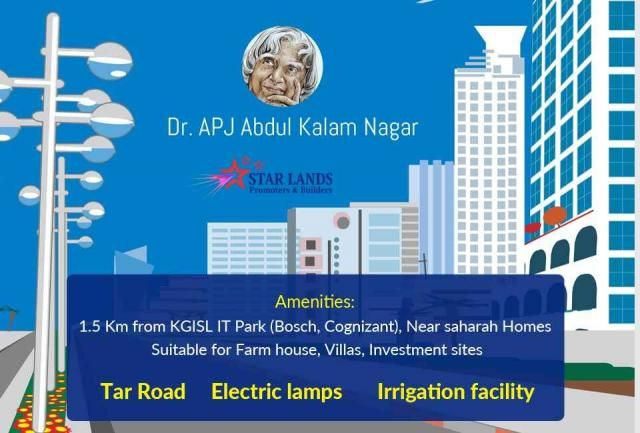 Dr. APJ Abdul Kalam Nagar The #right #plan, the right #beginning! Home is where our dream begins. Build your dream project with us- Star Lands Promoters & Developers. #Contact: +91-95006 45566