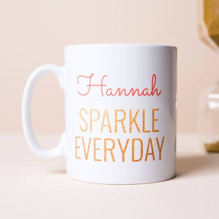Personalised Mug - Sparkle Every Day | GettingPersonal.co.uk