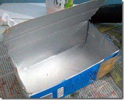 Caixa de leite limpa e aberta