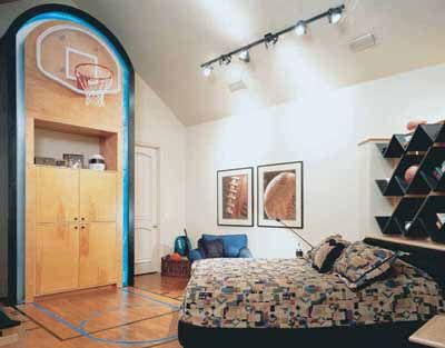 Awesome if you have high ceilings this could be a great room for your son !! Or daughter !  lol