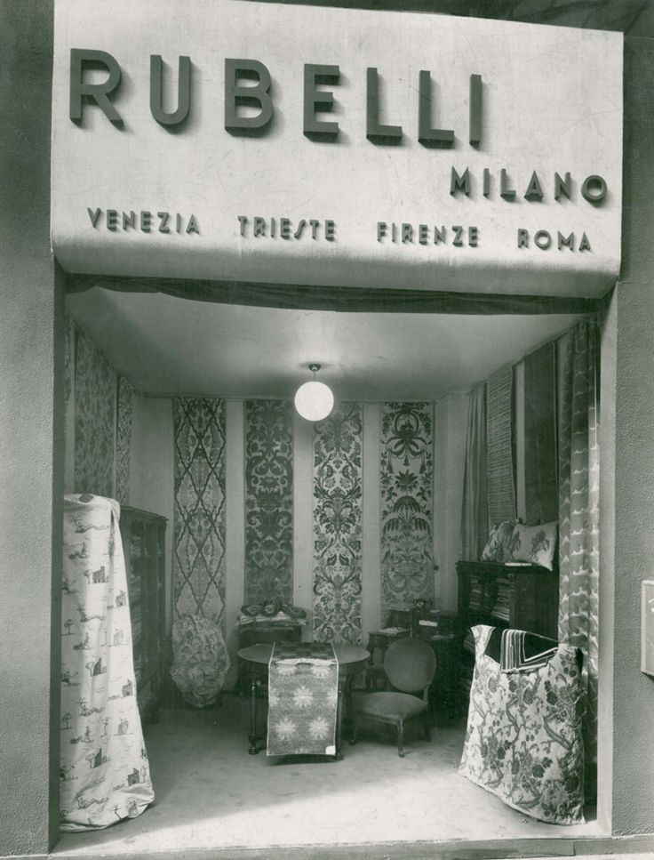 1935 - The showroom in Milan opens (Via Manzoni, 20). by Rubelli