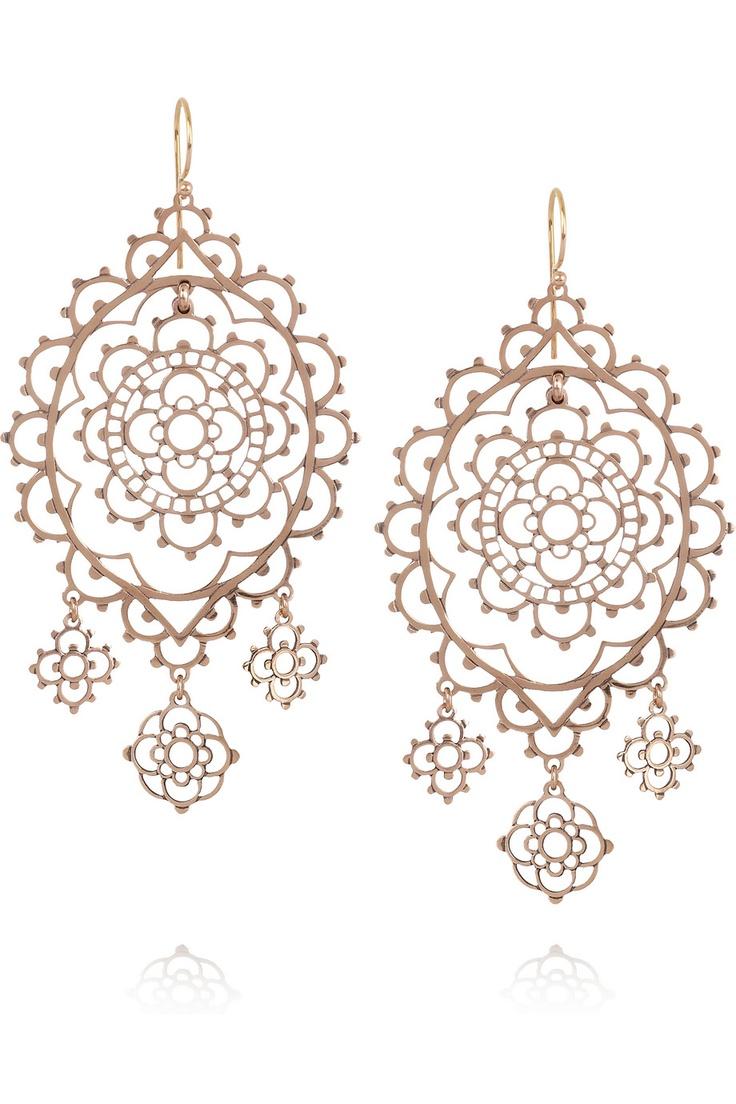 Laurent Gandini  Burano 9karat Rose Gold Drop Earrings
