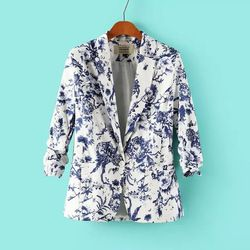 Online Shop European and American women's small and beautiful new fall 2014 women's casual suit sleeve printing factory wholesale Aliexpress Mobile