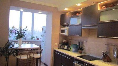 объединение кухни с балконом #расширение_кухни #визуальное_увеличение_кухни #дизайн #интерьер