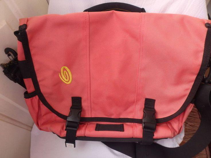 timbuk2 messenger bag laptop carrier organizer carry-on Coral Pink #Timbuk2 #MessengerShoulderBag