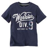 Crafted with soft cotton and a sporty graphic, this tee gives him MVP style on and off the field.