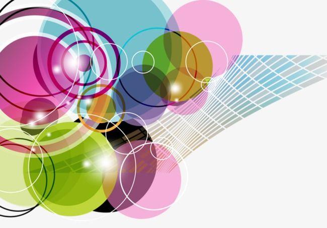 نمط الدائرة الملونة Design Circle Clothes Design
