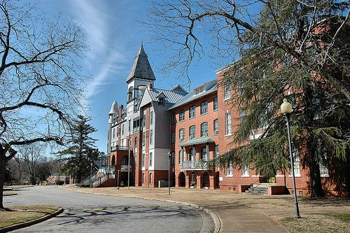 Cuthbert GA Randolph County Andrew College Historic Methodist High Victorian Architecture Pictures Photo Copyright Brian Brown Vanishing Sou...