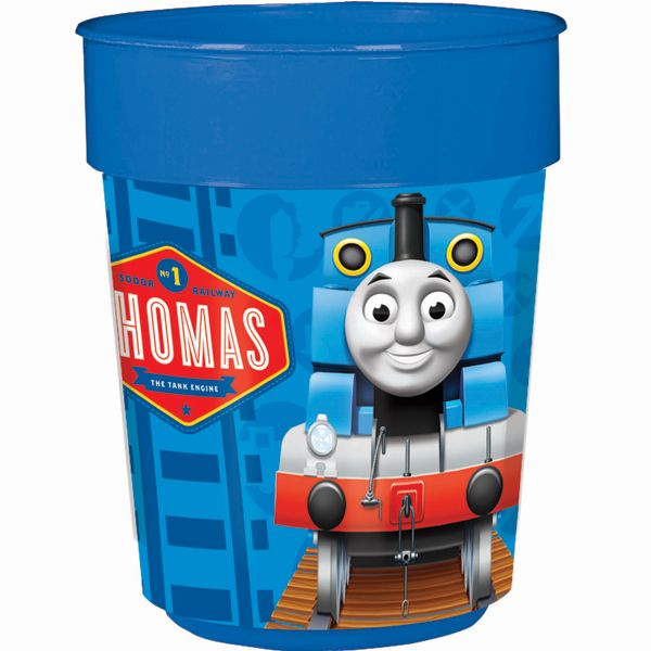 Thomas the Tank Birthday Keepsake Cup instead of favor bags??