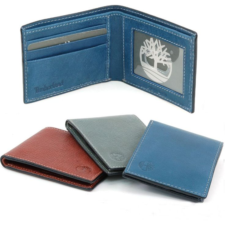 Timberland Thin Slimfold Wallet Genuine Leather Mens Billfold Slim ID Cards  Case