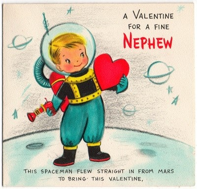 107 best images about Vintage valentine Cards Space – Nephew Valentine Cards