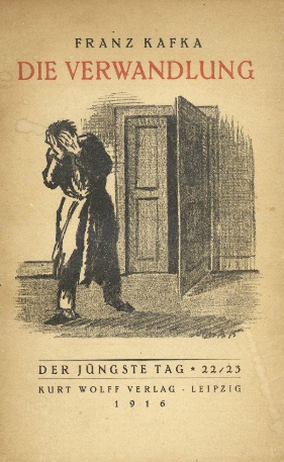 """Metamorphosis"" - ""Die Verwandlung"" - original first edition book cover - Franz Kafka. Leipzig, 1916"