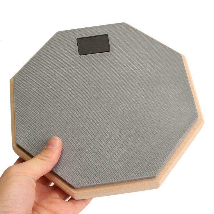 8 inch Rubber Wooden dumb drum Silent  Practice Drumpad For Beginner Drumming Quiet Training Drum pad For Drummers