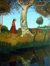 Otto Modersohn: Sonniger Herbsttag, um 1904, Worpsweder Kunststiftung