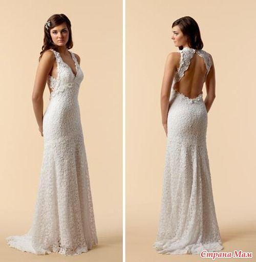 Цена на вязаные свадебные платья схемы