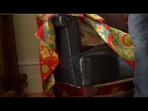 How to reupholster a chaise lounge chair for the