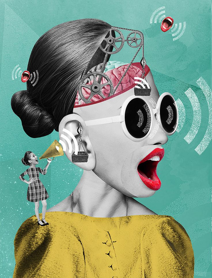 Moscow-based artist Olga Khaletskaya combines illustrations and photographic elements to create interesting collages. More collages on the grid via Behance