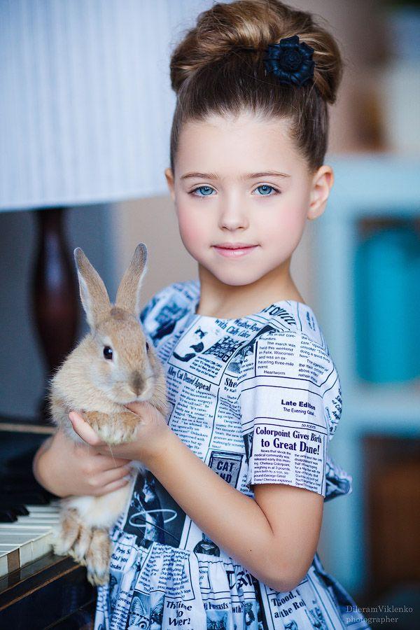 Sweet girl with sweet rabbit