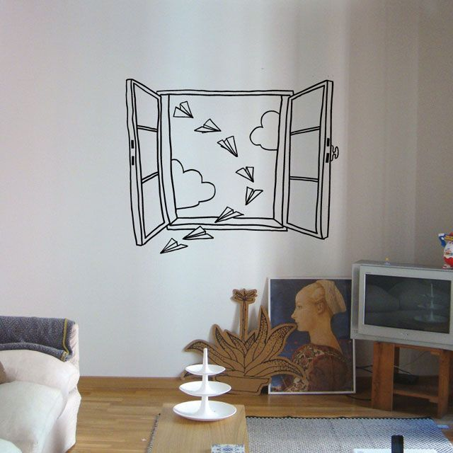 Another window wall sticker