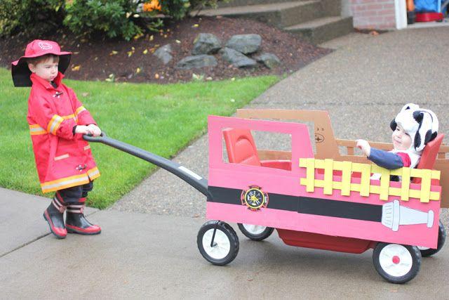 Repeat Crafter Me: Fireman, Fire Dog, Fire Truck Halloween Costume