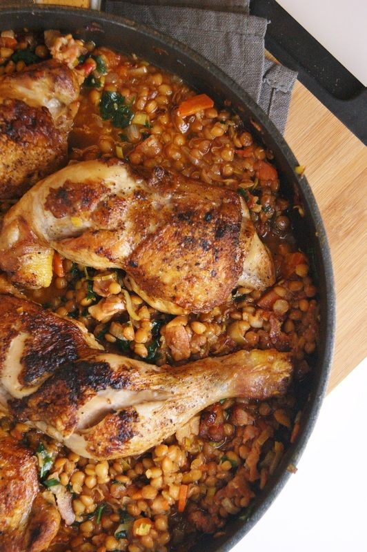 Chicken and red lentil ragout