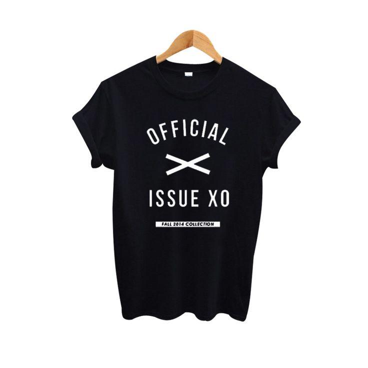The Weekend Official Issue XO Shirt Women T shirt Funyy Harajuku Letter T-shirt Women Tops Casual Black White Tee Shirt Femme #Affiliate