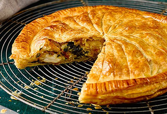 Chicken, spinach and ricotta pithiviers recipe - 9Kitchen