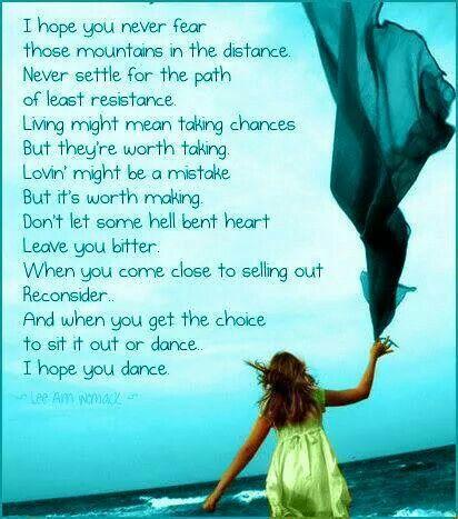 Ovarian Cancer Awareness ~ I hope you dance    # Ovarian Cancer Day of Silence
