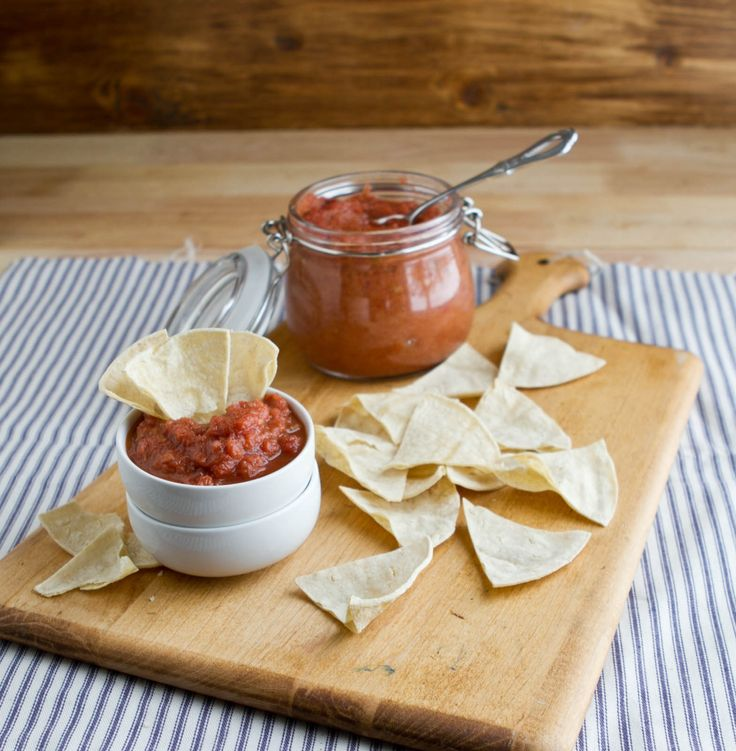 Chipotle Rhubarb Salsa from Naturally Ella. http://punchfork.com ...