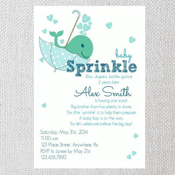 printable baby sprinkle invitation baby boy by lovelylambcreations