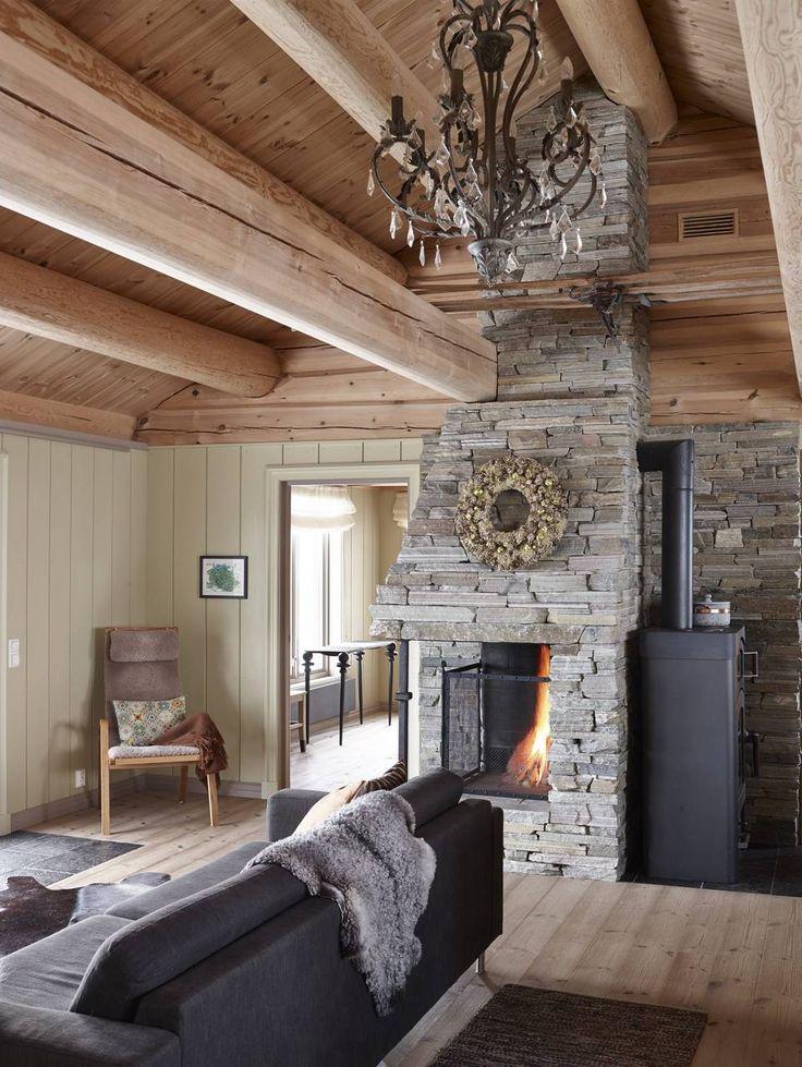 From the livingroom i our cabin Fjellhytta.