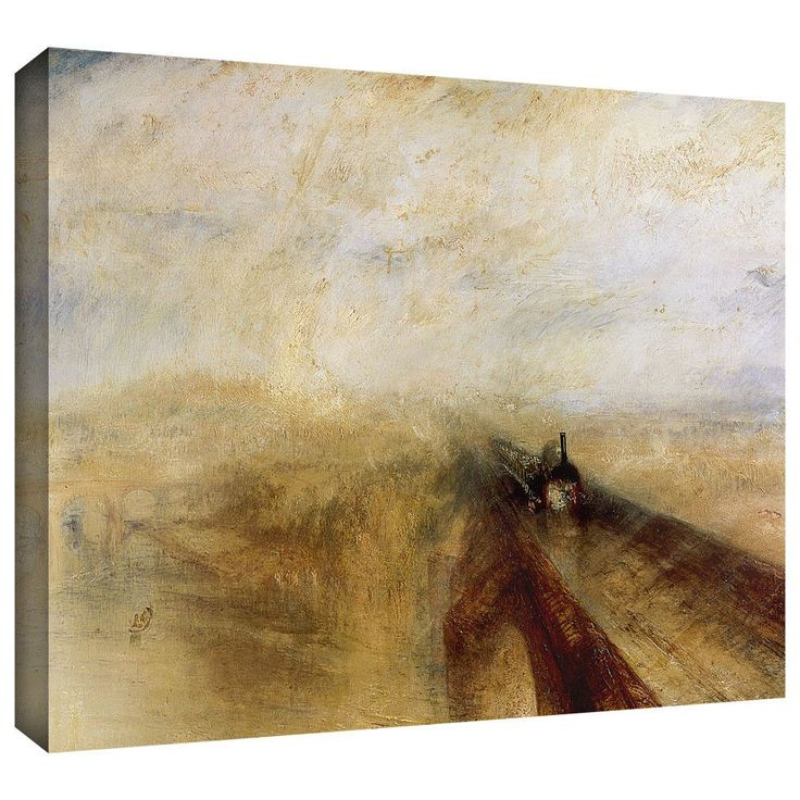 'Rain Steam and Speed, The Great Western Railway II' by William Turner Gallery-Wrapped on Canvas