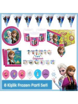 Frozen Parti Seti (8 Kişilik Set)