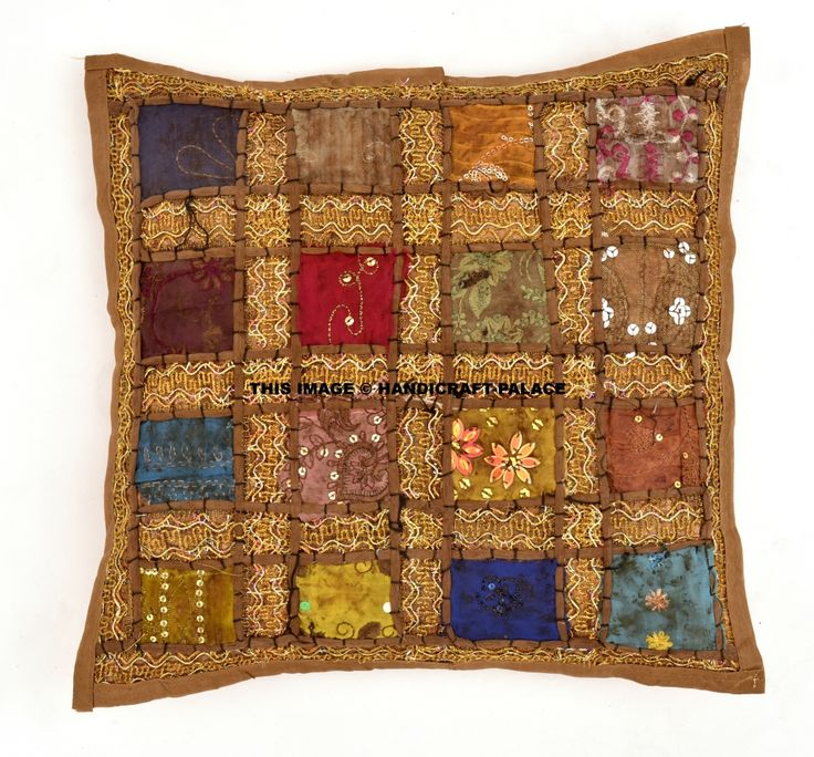 Indian Ethnic decor cushion covers. They are considered as decorative item as they are widely used for home decoration. This gorgeous pillow cushion cover will add warmth style and elegance to any room in your home. #cushioncover #poufcase #pillowsham #boho #hippie #gypsy #bohemian #ethnic #traditional #love #life #soul #peace #mandala #blockprint #kantha #velvet #floral #flowers #embroidered #wedding #ideas #sequince #work #handmade #royal #zari #free #shipping #India #handicraftpalace